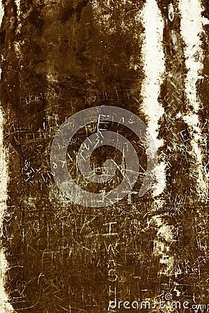Graffiti on an ancient wall