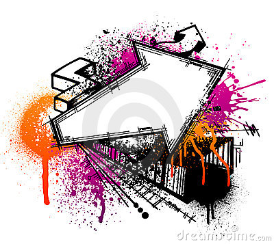 Free Graffiti Arrow Background Stock Photos - 8387913