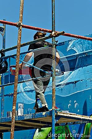 Graffiti artist Editorial Photography