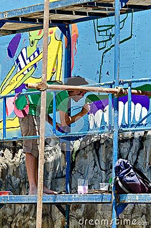 Graffiti artist Editorial Stock Image