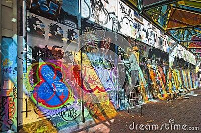 Graffiti artist at work Editorial Image