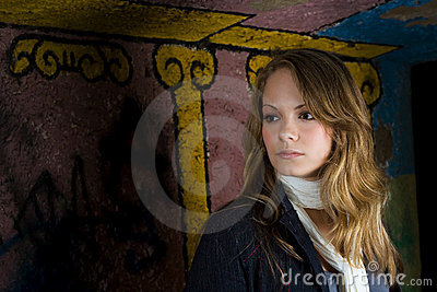 Graffiti backdrop portrait