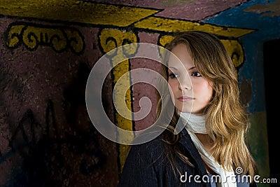 Graffiti backdrop portrait
