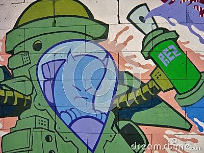 Graffiti background 08