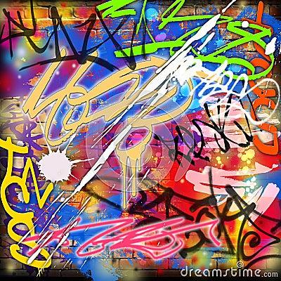 Free Graffiti Background Royalty Free Stock Photography - 7189177