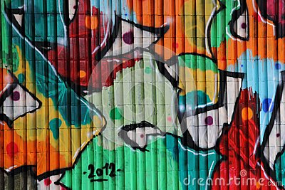 Graffiti background (street art)