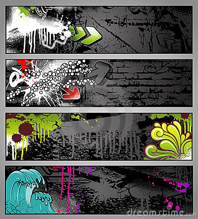 Graffiti banners