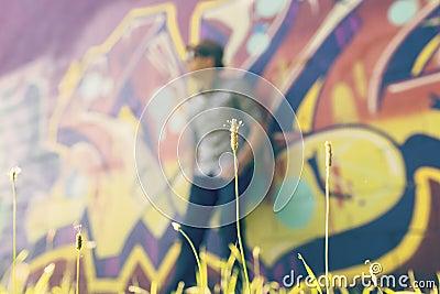 Graffiti Blur On Wall Free Public Domain Cc0 Image
