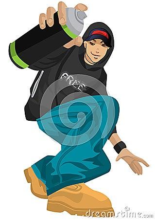 Graffiti Boy Royalty Free Stock Image - Image: 6647746