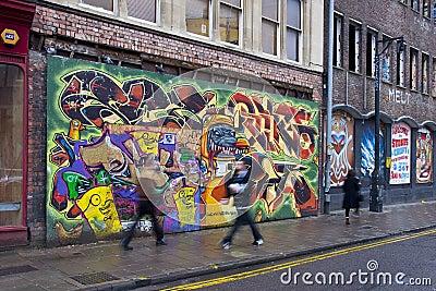 Graffiti in Bristol Editorial Photo