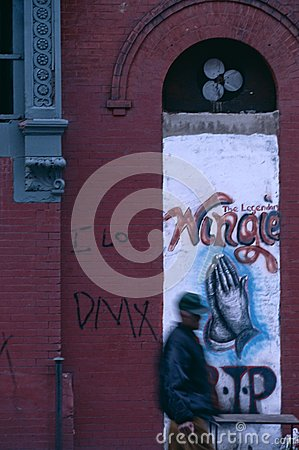Graffiti on a building in New York City, USA Editorial Photography
