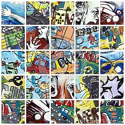 Graffiti collage Editorial Photo