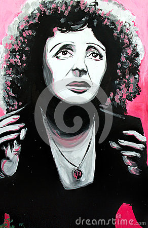 Free Graffiti Edith Piaf Portrait Royalty Free Stock Image - 47273406