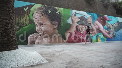 Graffiti en Wall Street almacen de video
