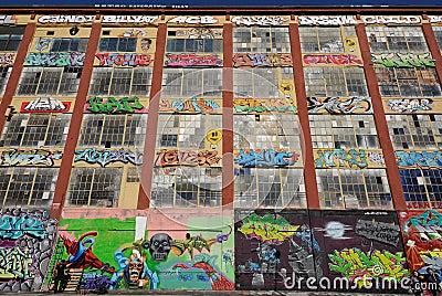 Graffiti at Five Pointz Editorial Stock Photo