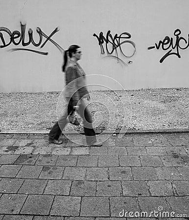 Free Graffiti Girl Stock Photography - 546912