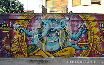 Graffiti on Indian mythology