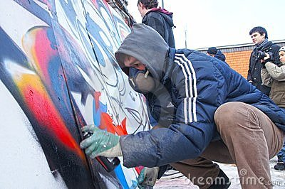 Graffiti jam Editorial Stock Photo