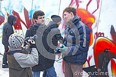 Graffiti jam Editorial Stock Image