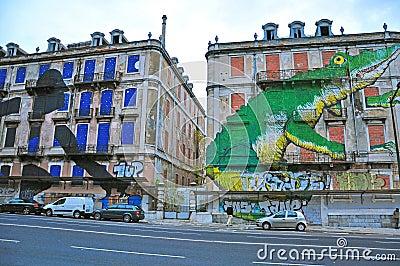 Graffiti of Lisbon Editorial Stock Image