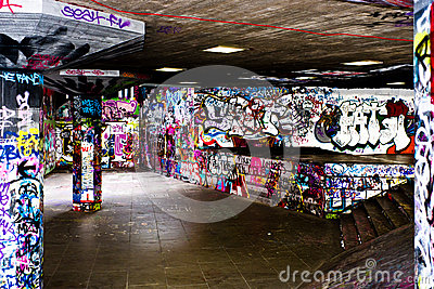 Graffiti in London Editorial Stock Image
