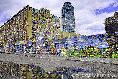 Graffiti in New York City and Citibank Editorial Image
