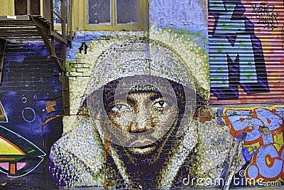 Graffiti in New York City Editorial Photo