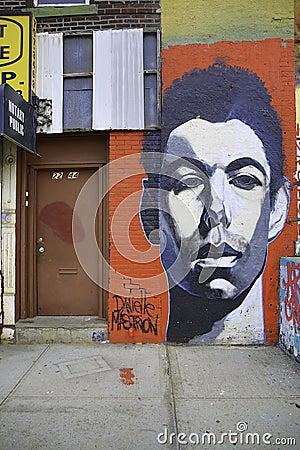 Graffiti in New York City Editorial Stock Photo