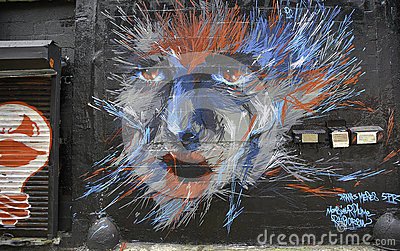 Graffiti in New York City Editorial Stock Image