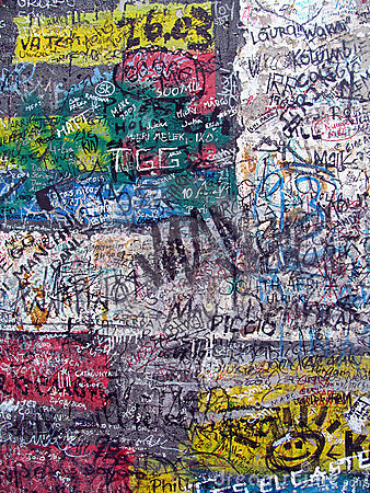 Graffiti On The Old Berlin Wall Royalty Free Stock Image - Image: 16786