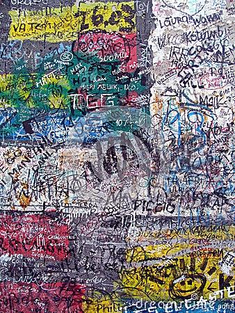 Graffiti on the old berlin wall