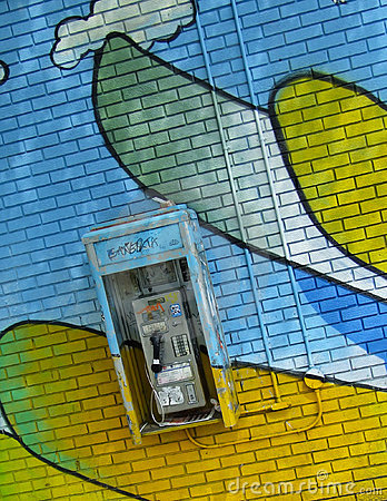 Free Graffiti Pay Phone Stock Photo - 20559690