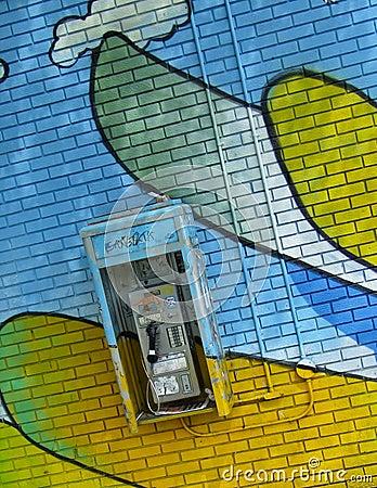 Graffiti Pay Phone