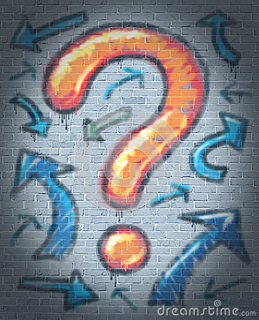Graffiti Question Mark
