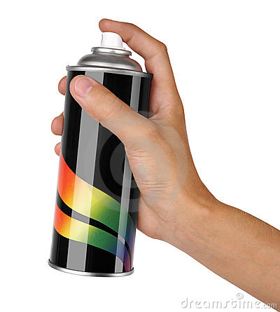 Graffiti spray can