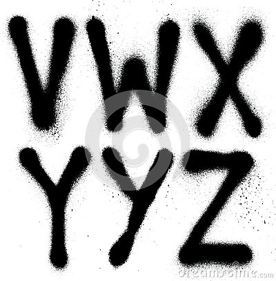 Free Graffiti Spray Paint Font Type &x28;part 4&x29; Alphabet Royalty Free Stock Photos - 35182808
