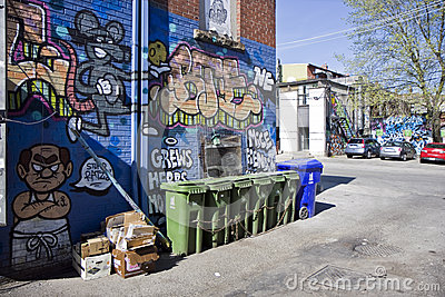 Graffiti street art Editorial Stock Image