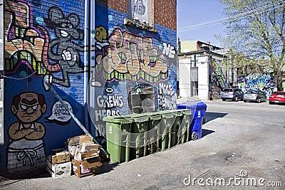 Graffiti street art Editorial Stock Image