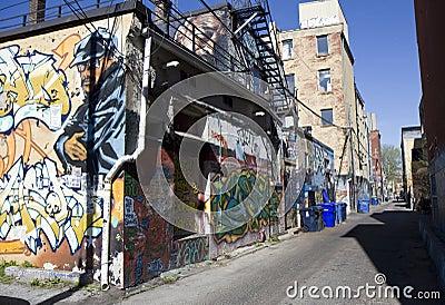 Graffiti street art Editorial Image