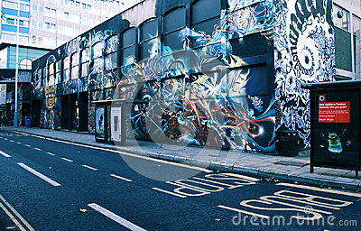 Graffiti street art in Bristol Editorial Image