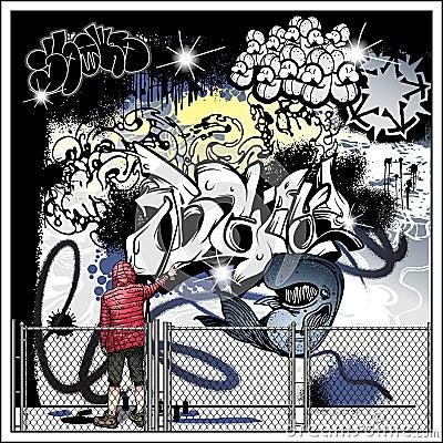 Graffiti street art vector