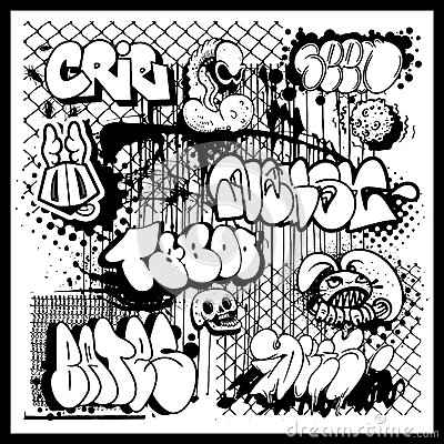 Graffiti street art vector