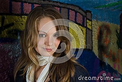 Graffiti tunnel portrait