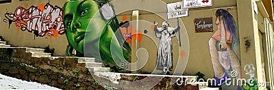 Graffiti, Valparaiso, Chile Editorial Photography