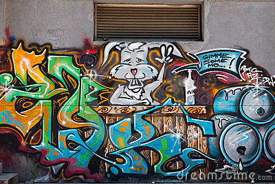 Graffiti wall Editorial Stock Photo