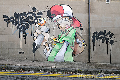 Graffiti Wall Editorial Photography