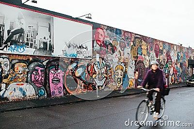Graffiti wall of faces. Editorial Image