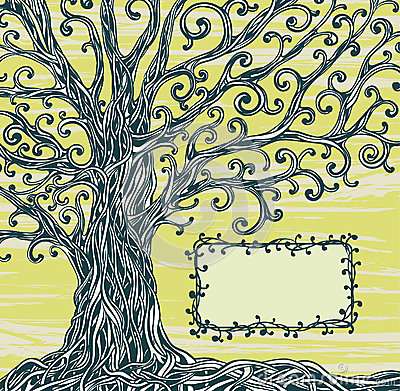 Grafic tree and frame.