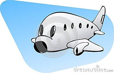 Grafiki samolot handlowy