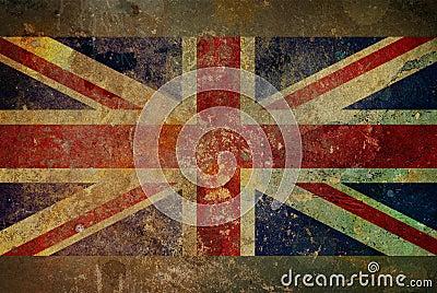 Grafische de Vlag van Union Jack van Grunge